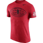 Nike Men's Ohio State Buckeyes Scarlet Moments Tri-Blend Football T-Shirt