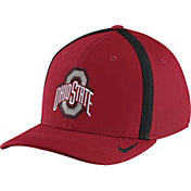 Nike Men's Ohio State Buckeyes Scarlet Aerobill Swoosh Flex Classic99 Football Sideline Hat