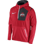 Nike Men's Ohio State Buckeyes Scarlet Speed Fly Rush Football Jacket