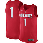 Nike Men's Ohio State Buckeyes #1 Scarlet Authentic Hyper ELITE Basketball Jersey