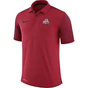 Nike Men's Ohio State Buckeyes Scarlet Team Issue Football Sideline Performance Polo