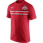 Nike Men's Ohio State Buckeyes Scarlet Team Stripe Football T-Shirt