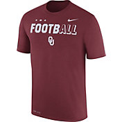 Nike Men's Oklahoma Sooners Crimson FootbALL Sideline Legend T-Shirt