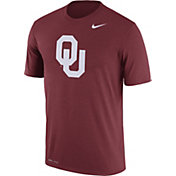 Nike Men's Oklahoma Sooners Crimson Logo Dry Legend T-Shirt