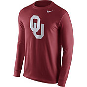 Nike Men's Oklahoma Sooners Crimson Logo Long Sleeve Shirt