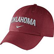 Nike Men's Oklahoma Sooners Crimson Heritage86 Wordmark Swoosh Flex Hat