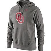 Nike Men's Oklahoma Sooners Grey Classic Logo Hoodie