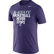 Nike Men's Kansas State Wildcats Purple Basketball Team T-Shirt