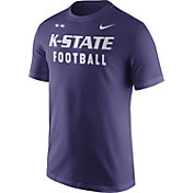 Nike Men's Kansas State Wildcats Purple Football Sideline Facility T-Shirt