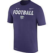 Nike Men's Kansas State Wildcats Purple FootbALL Sideline Legend T-Shirt