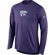 Nike Men's Kansas State Wildcats Purple ELITE Shooter Long Sleeve Shirt