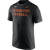 Nike Men's Oklahoma State Cowboys Football Sideline Facility Black T-Shirt