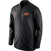 Nike Men's Oklahoma State Cowboys Lockdown Black Half-Zip Performance Jacket