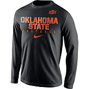 Nike Men's Oklahoma State Cowboys Football Practice Black Long Sleeve Shirt