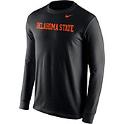 Nike Men's Oklahoma State Cowboys Black Wordmark Long Sleeve Shirt