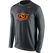 Nike Men's Oklahoma State Cowboys Anthracite Logo Long Sleeve Shirt