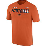 Nike Men's Oklahoma State Cowboys Orange FootbALL Sideline Legend T-Shirt
