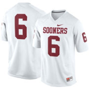 Nike Men's Oklahoma Sooners White #6 Game Football Jersey