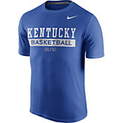 Nike Men's Kentucky Wildcats Blue ELITE Basketball Practice T-Shirt