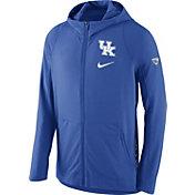 Nike Men's Kentucky Wildcats Blue Hyperelite Full-Zip Fleece ELITE Basketball Hoodie