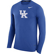 Nike Men's Kentucky Wildcats Blue March Basketball Performance Long Sleeve Shirt