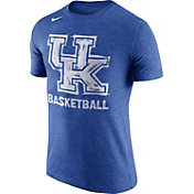 Nike Men's Kentucky Wildcats Blue Basketball Tri-Blend T-Shirt