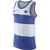 Nike Men's Kentucky Wildcats White/Blue Wide Stripe Dri-Blend Tank
