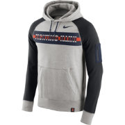 Nike Men's Illinois Fighting Illini Grey Stadium Team First AW77 Lightweight Hoodie