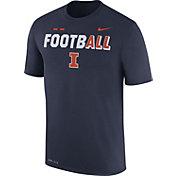 Nike Men's Illinois Fighting Illini Blue FootbALL Sideline Legend T-Shirt