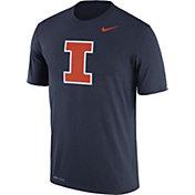 Nike Men's Illinois Fighting Illini Blue Logo Dry Legend T-Shirt