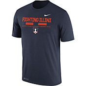 Nike Men's Illinois Fighting Illini Blue Football Staff Legend T-Shirt