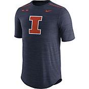 Nike Men's Illinois Fighting Illini Blue Football Player T-Shirt