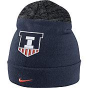 Nike Men's Illinois Fighting Illini Blue/Grey Sideline Beanie
