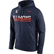 Nike Men's Illinois Fighting Illini Blue Circuit PO Hoodie