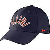 Nike Men's Illinois Fighting Illini Blue Vault Dri-FIT Swoosh Flex Hat