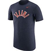 Nike Men's Illinois Fighting Illini Heathered Blue Vault Tri-Blend T-Shirt