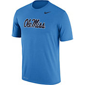 Nike Men's Ole Miss Rebels Powder Blue Logo Legend T-Shirt