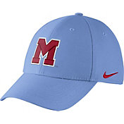 Nike Men's Ole Miss Rebels Light Blue Vault Dri-FIT Swoosh Flex Hat