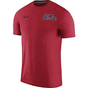 Nike Men's Ole Miss Rebels Red Coach Football T-Shirt