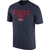 Nike Men's Ole Miss Rebels Blue Football Staff Legend T-Shirt
