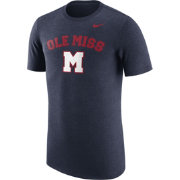 Nike Men's Ole Miss Rebels Heathered Blue Vault Tri-Blend T-Shirt