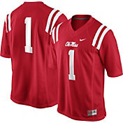 Nike Men's Ole Miss Rebels #1 Red Game Football Jersey