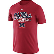 Nike Men's Ole Miss Rebels Red Team Issue Baseball Legend T-Shirt