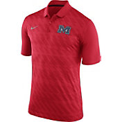 Nike Men's Ole Miss Rebels Red Dry Stadium Polo