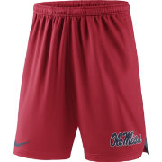 Nike Men's Ole Miss Rebels Red Knit Football Sideline Performance Shorts