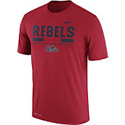 Nike Men's Ole Miss Rebels Red Football Staff Legend T-Shirt
