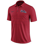 Nike Men's Ole Miss Rebels Red Early Season Football Polo