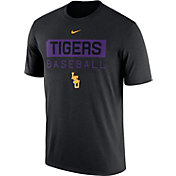 Nike Men's LSU Tigers Team Issue Legend Baseball Black T-Shirt
