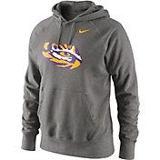 Nike Men's LSU Tigers Grey Classic Logo Hoodie