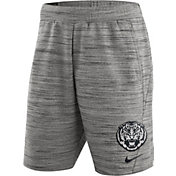Nike Men's LSU Tigers Heathered Grey Fleece Basketball Shorts